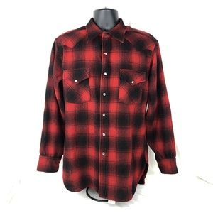 Pendleton Red Plaid High Grade Western Pearl Snap